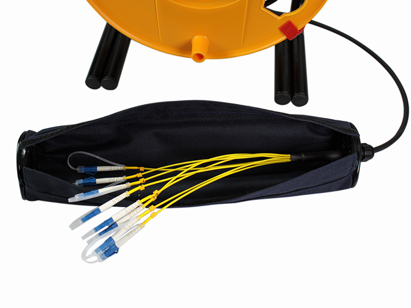 fibra optica lc lc enrollador y proteccion