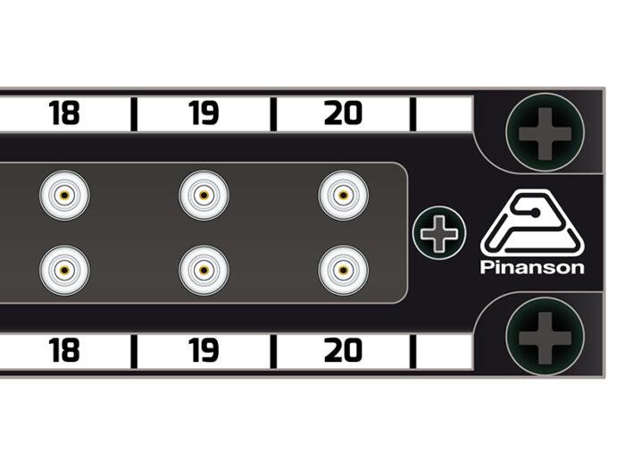patch panel din 2x20 pt23888