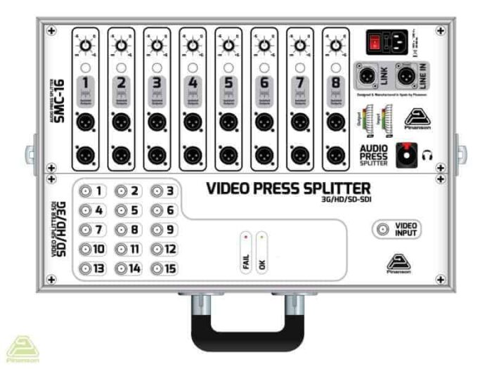 press splitter audio video