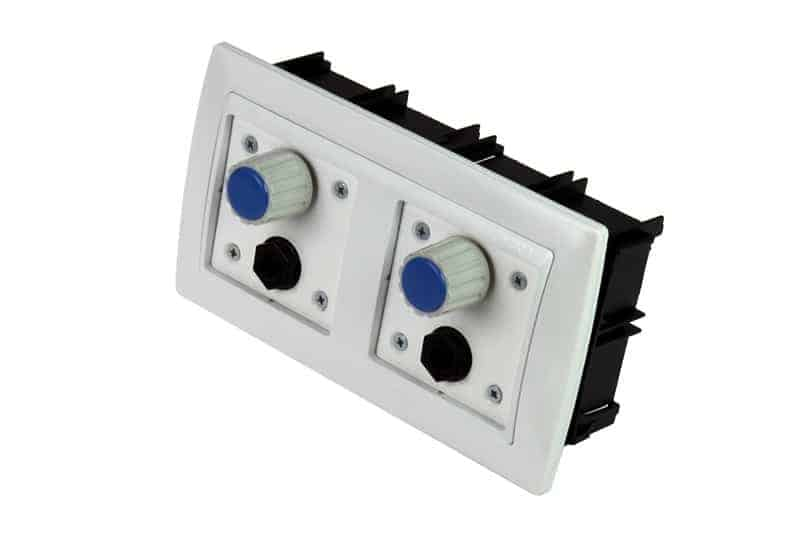 volume controller headphones 2 channel wall plate pt15169