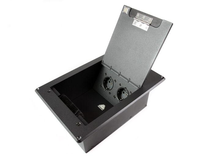 av floor box 2 schuko