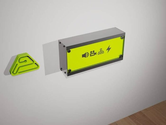 caja superficie aluminio estandar panel