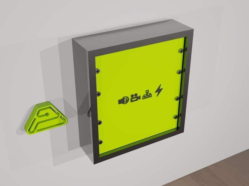 caja superficie wall rack paneles