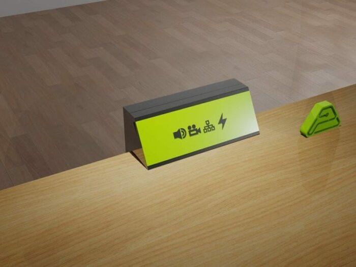 caja superficie angulada
