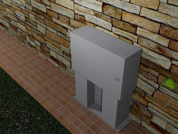 outdoor box ip66 inox stand