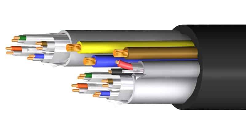 manguera hibrida audio cat6a f ftp power m11986