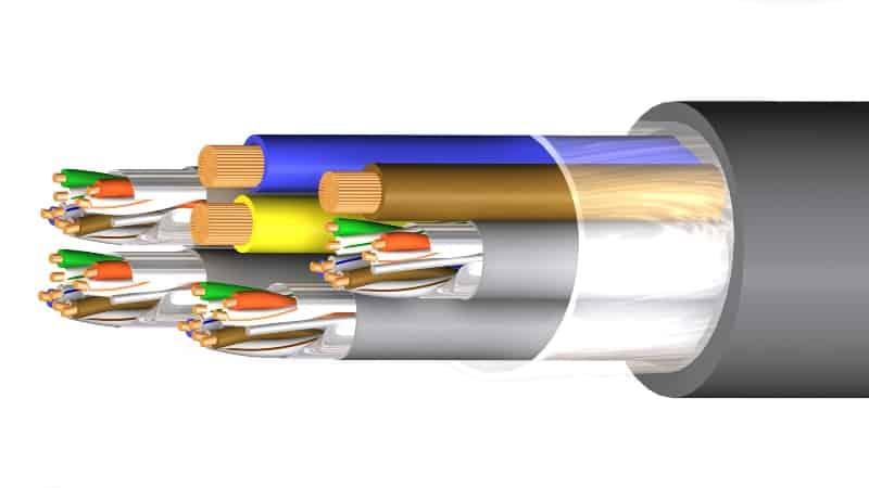 manguera hibrida cat6 f utp power m9603