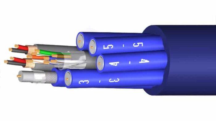 manguera hibrida audio video cat5e f utp m4772