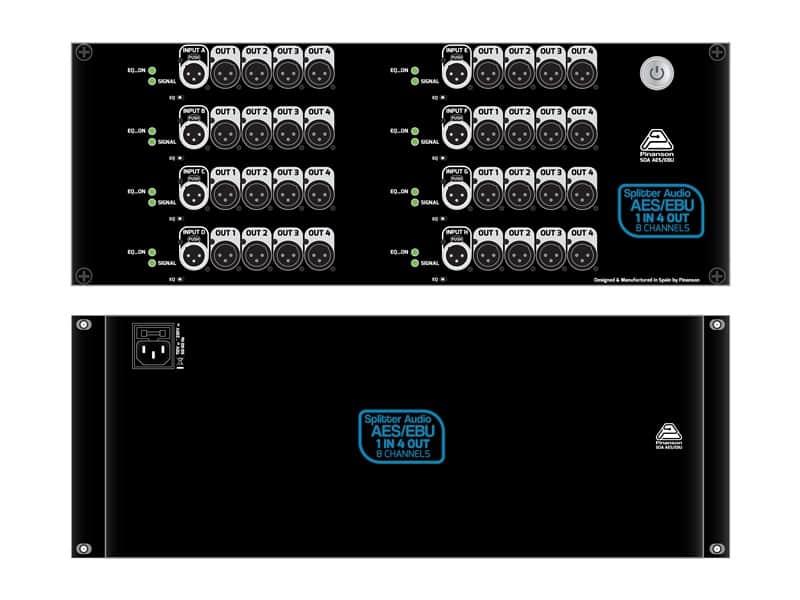 splitter audio digital sda 1 4