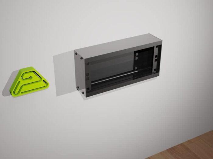 caja superficie aluminio estandar
