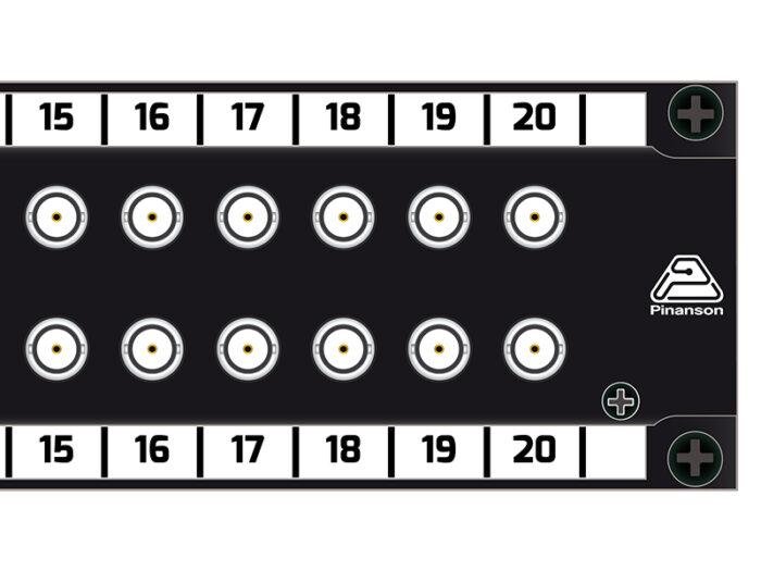 Patch panel 40 BNC 3gsdi