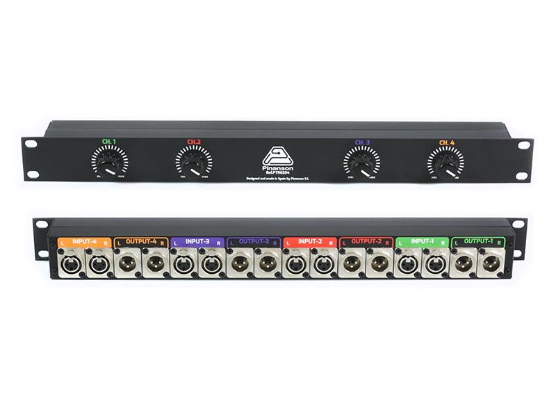 ptr6394 controlador volumen nivel linea 4ch