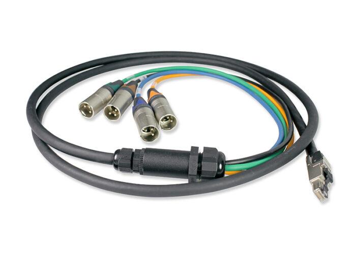 xlrm rj45 cable adaptor