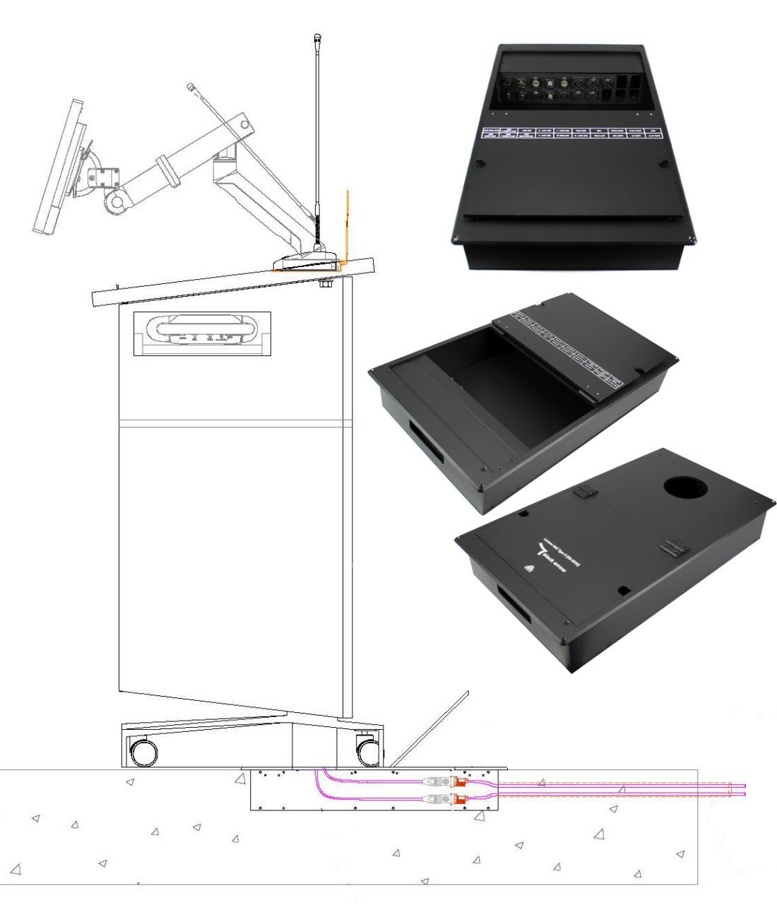 cuboid rack drawing
